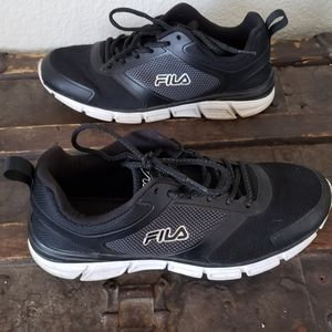 Fila Mens Memory Steelsprint Tennis Shoes Size 9